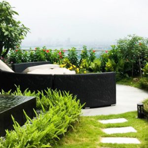 Thi công vườn trên mái đẹp